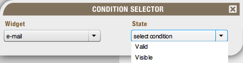 Select condition state