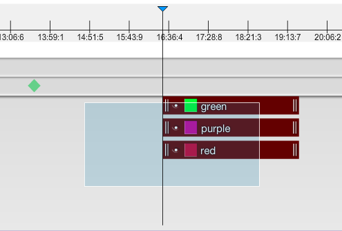 Select multiple widgets using the timeline area