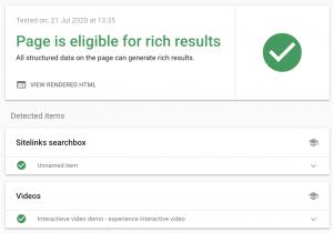 Google Test Rich Results