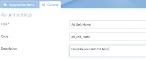 Instream Ad Unit Settings